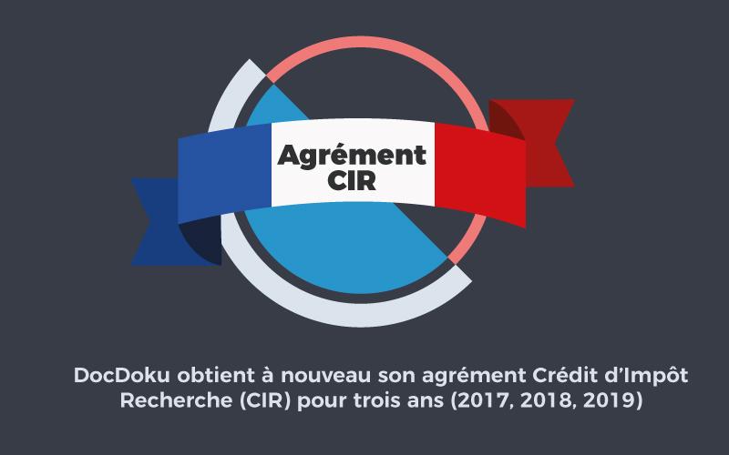 Agrément CIR jusqu'en 2019 pour DocDoku